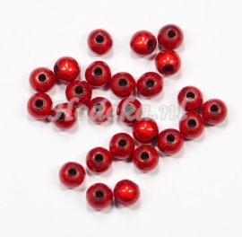MIR05/01  40 X miracle beads Rood  ca. 5mm