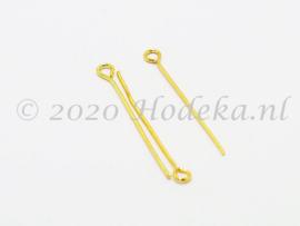 BNK07  50 x Kettelstift Goud 30mm
