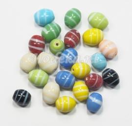 KLM10 50 gram Glaskralen mix ovaal