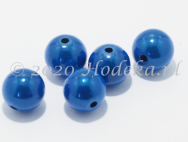 MIR12/11  6 X miracle beads Blauw 12mm