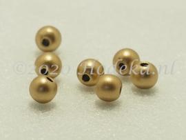 ACP06/12a   125 x acryl Kraal rond 6mm Mat Goud/Brons