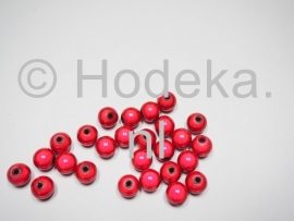 MIR08/13  12 X miracle beads Roze/Rood  ca. 8mm