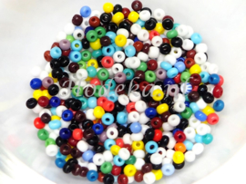 CRP11/59a  50 gram Preciosa Rocailles 11/0 Kleuren mix