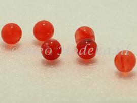 ACP06/09a   100 x acryl kraal rond 6mm Gemêleerd Rood/Roze