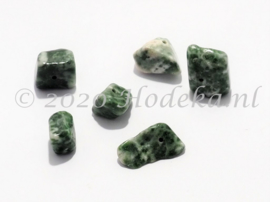 NSG08 12 x Natuursteen Kraal Groene Jaspis