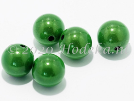 MIR12/03  6 X miracle beads Groen 12mm