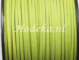 BSV20  1 meter imitatie Suede Veter Groen 3mm