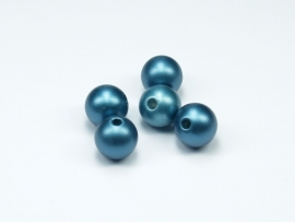 ACP10/02   10 x Acryl parels 10mm Mat Blauw
