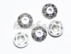 BKK07   10  x  Metalen Kralenkapjes ca. 9mm