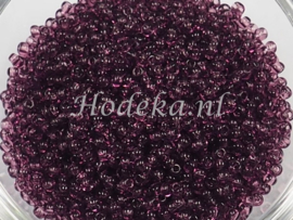 CRP11/45  12 gram Preciosa Rocailles 11/0 Paars transparant