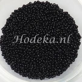 CRP15/23a  50 gram Preciosa Rocailles 15/0 Zwart