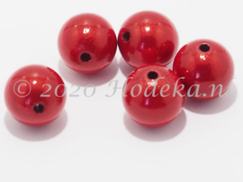 MIR12/06  6 X miracle beads Rood 12mm