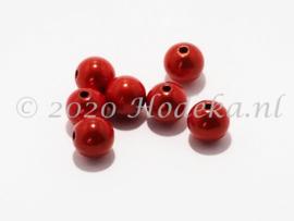 MIR10/30  8 X miracle beads Knal Oranje 10mm