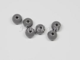 ACP08/11a   100 x acryl kraal rond 8mm  Grijs