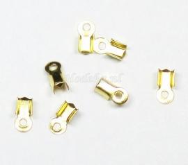 BVK11  16 x Veterklem 9 x 4 mm  Goud Kleur