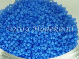 CRP15/45  12 gram Preciosa Rocailles 15/0 2 kleurig Blauw