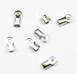 BVK12  16 x Veterklem 9 x 4 mm  Antiek Zilver 1 + 1 gratis
