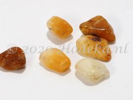 NSG21  12 x Natuursteen Kraal bruin tinten Citrien