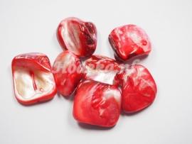 SCH03   1 x Schelp Rood met een Prachtige glans