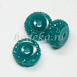 RBS12  4 x Rain bead Donker Groen 7x12mm
