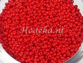 CRP11/55  12 gram Preciosa Rocailles 11/0 Rood