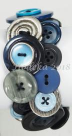 KPK03 Knopen armband pakket Blauw