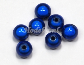 MIR10/06  10 X miracle beads Donker Blauw ca. 10mm