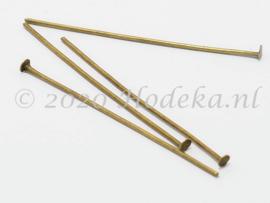 BNK14  40 x Nietpen Brons 40mm
