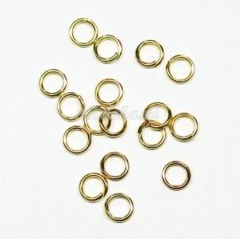 BHR05  40 ringetjes 6mm  -sterk- Goudkleur