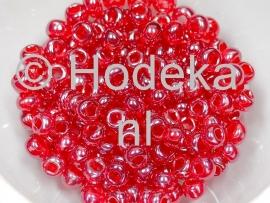 CRP06/19  12 gram Preciosa Rocailles 6/0 rood transparant