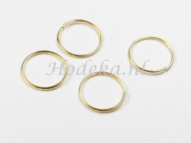 BHR33  30 x Flexibel ringetje 15mm Goudkleur