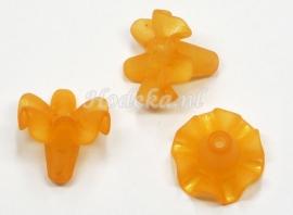 BVE71  3 x bloem ca.18 x 21mm  Oranje 1+1gratis