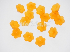 BVE34   3 x Bloem Oranje 12 x 4mm