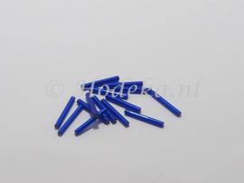 PRS13 Preciosa Bugle Staaf Paars/Blauw Silverlined recht 20 mm 10 gr.