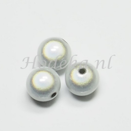 MIR18/01  2 x Miraclebead Wit 18mm