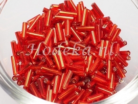 RST07 Rocailles staafjes Rood 12 gram