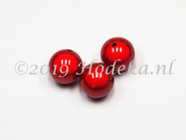 MIR18/02a  10 x Miraclebead Rood 18mm