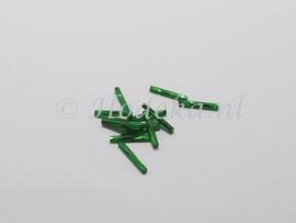 PRS08 Preciosa Bugle Staaf  Groen recht met twist 15 mm 10 gr.