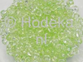 CRP06/20a  50 gram Preciosa Rocailles 6/0 groen transparant