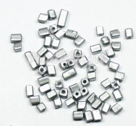 RRH01  15 gram   Rechthoekige/Vierkantige mat zilver