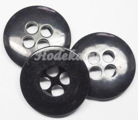 KNO110  1 x Zwarte Knoop ca. 33 mm