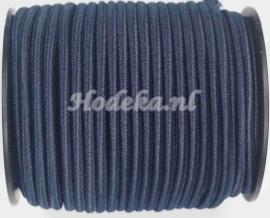 BKE04a Elastisch Koord heel Donker Blauw