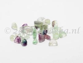 NST01  40 x Natuursteen mix Paars Groen en Transparant Fluoriet