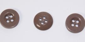 KNO21a  5 x  Mooie bruine knoop ca. 15 mm