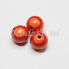 MIR14/10  4 X miracle beads Oranje  ca. 14mm