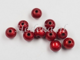 MIR08/15  12 X miracle beads Rood ca. 8mm