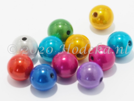 MIR12/12  50 X miracle beads Kleuren Mix 12mm