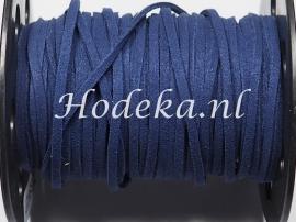 BSV27  1 meter imitatie Suede Veter Donker Blauw 3mm