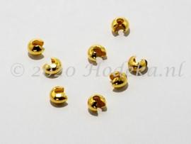 BHV01   14 x knijpkraalverberger goud 5 x 2.5 mm