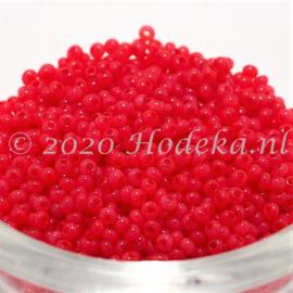 CRP11/90a  50 gram Preciosa Rocailles 11/0 Rood/Roze